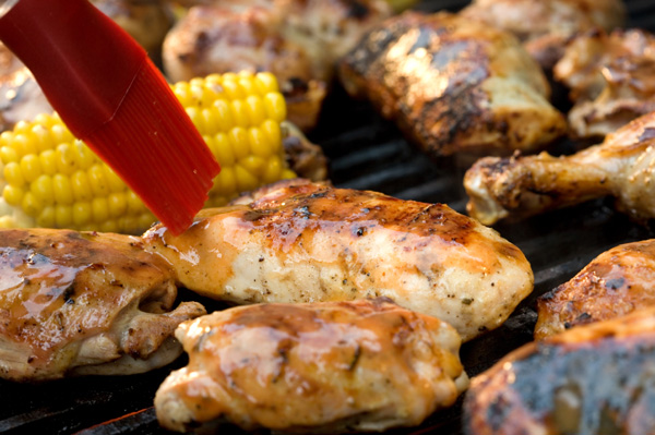 BBQ chicken on the grill