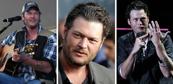 Blake Shelton goes gray