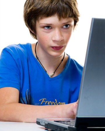 Boy on the computer