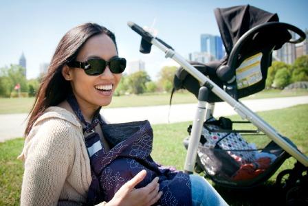 Breastfeeding in the park