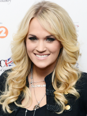 Carrie Underwood's romantic ringlets
