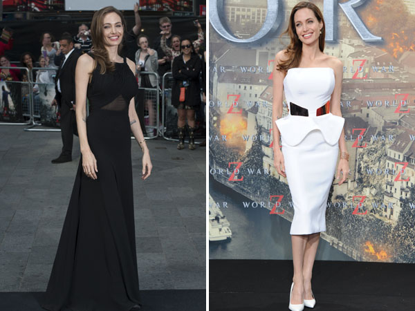 Angelina Jolie stuns in black... and white!