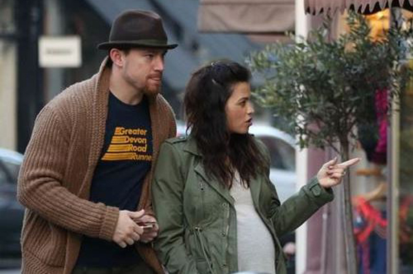 Channing Tatum and pregnant Jenna Dewan-Tatum