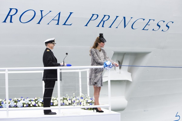 Duchess launches ship