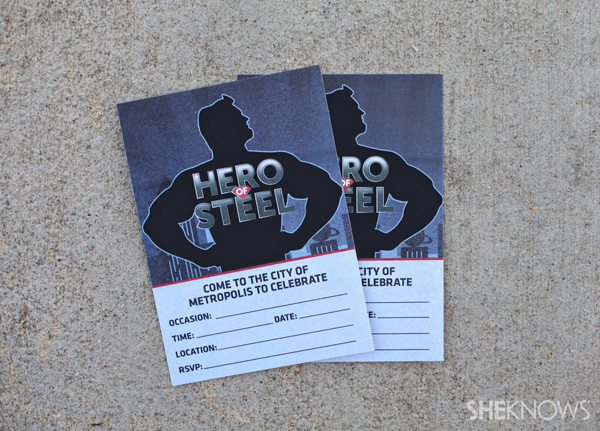 Superman Man of Steel party invitations