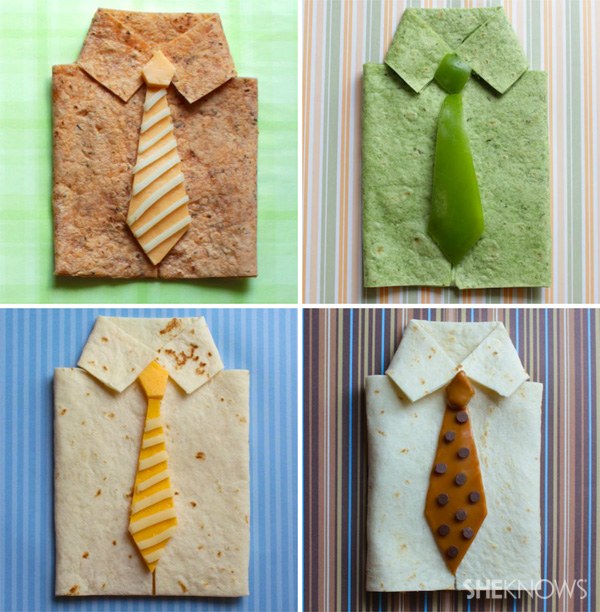 A shirt and tie you can eat