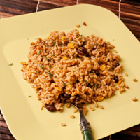 Spanish veggie brown rice
