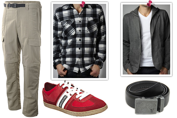 Men's look for around town