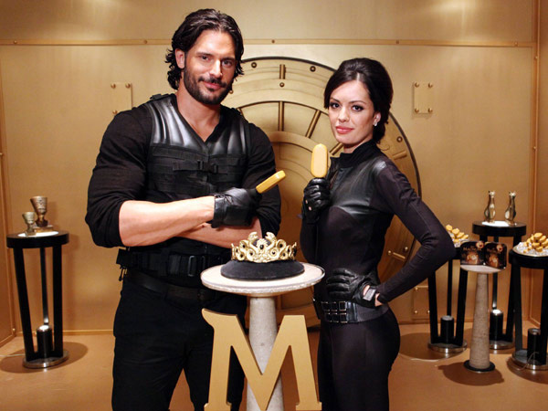 Joe Manganiello with Magnum bar