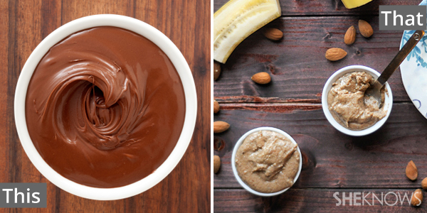 Nutella for almond butter