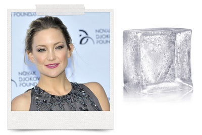 Kate Hudson gives herself ice water facials