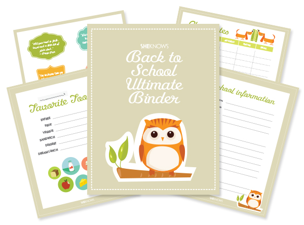 sheknows.com | Download the free Back to School Ultimate Binder