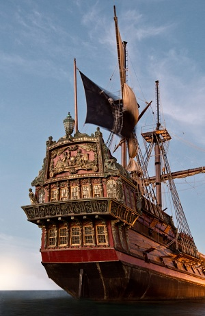 Black Sails' pirate ship