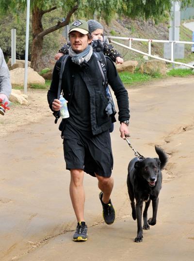 Orlando Bloom with dog