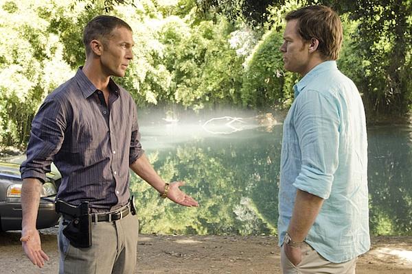 Dexter and Quinn talk