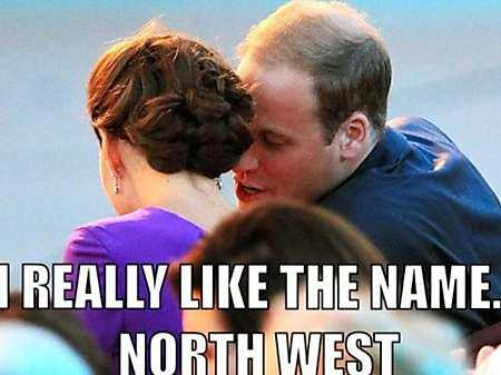 Will and Kate Royal Baby North West Meme