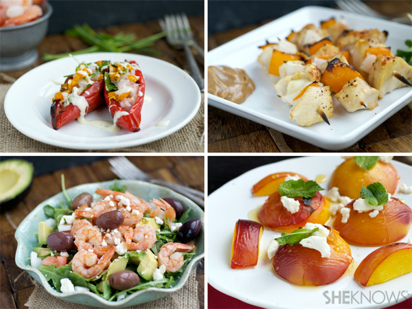 4 grilled pool party entrees for under 150 calories