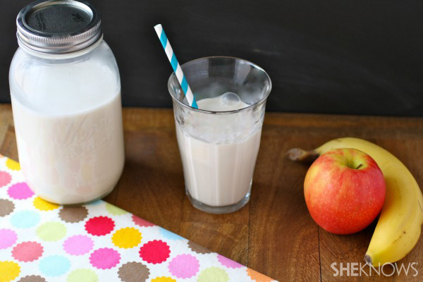 Homemade organic almond milk