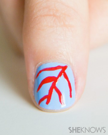 Coral reef printed nails