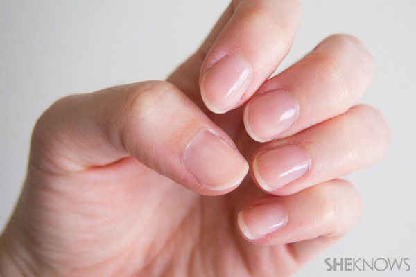 Fish tail french manicure