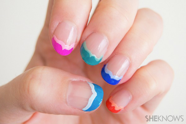 Fish tail frech manicure | SheKnows.com