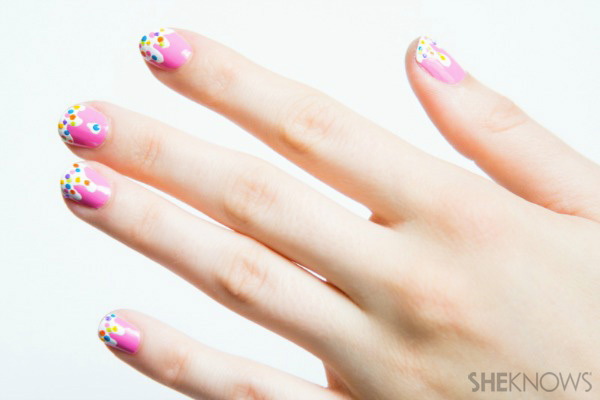 Cream Color Nail Designs Melting Ice Cream Nail Design