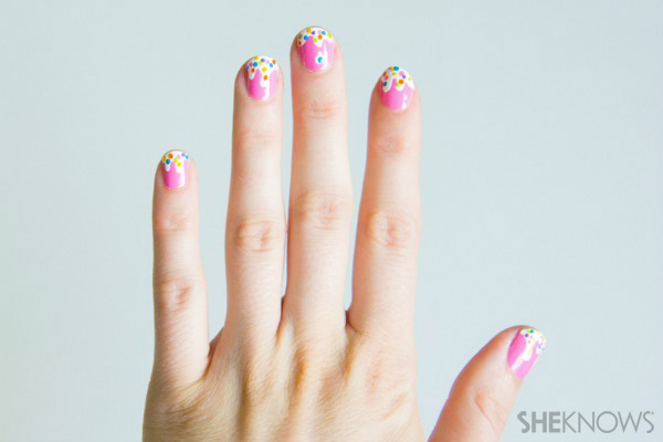Melting ice cream nail design | SheKnows.com