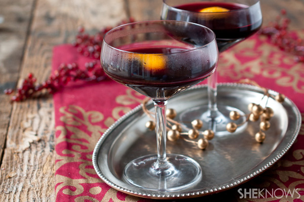 Red wine with a little sparkle