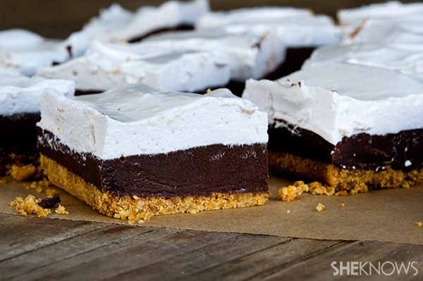 Gluten Free S'mores Fudge Bars