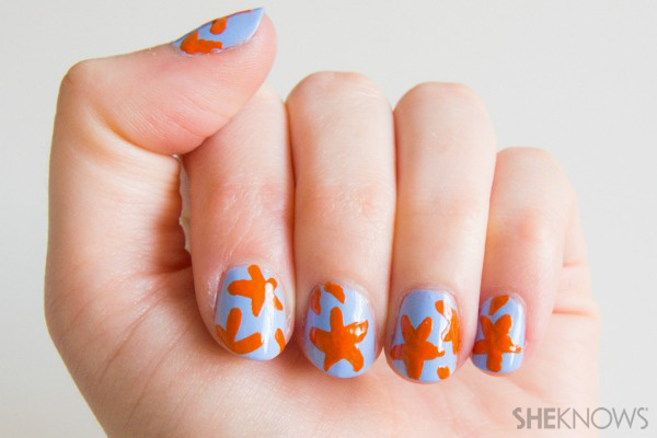 Starfish print nails