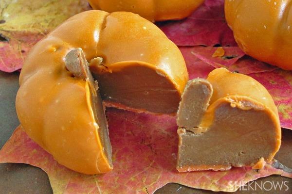 Chocolate caramel pumpkin dessert