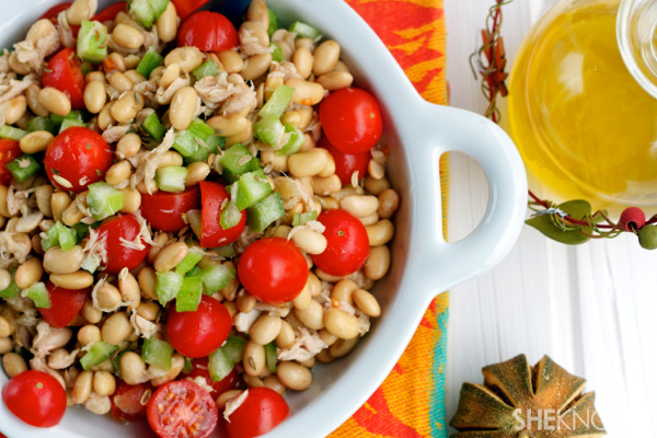 Soybean tuna amp tomato salad with lemon