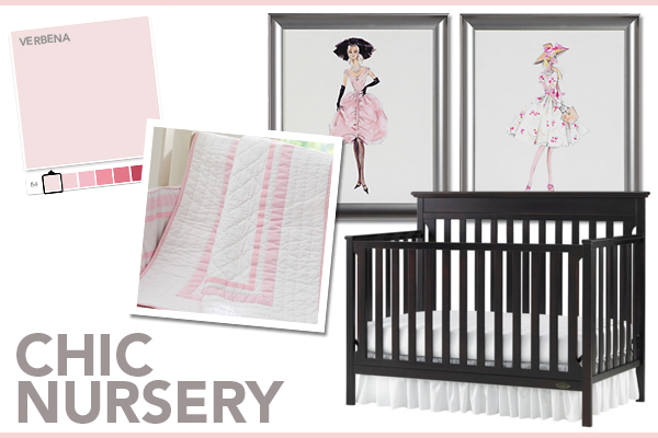 Chic nursery for girls | SheKnows.com