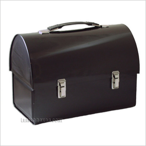 Black dome lunch box