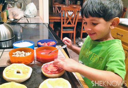 Homeschool - Preparing lunch