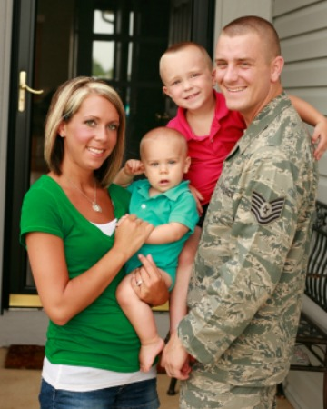 Military family on base