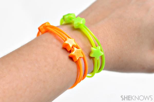 Stretchy neon bracelets