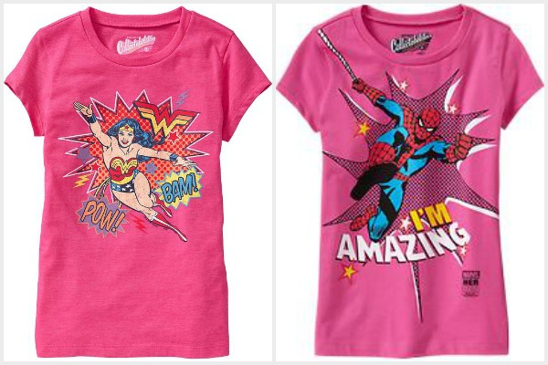 Retro graphic tees for girls