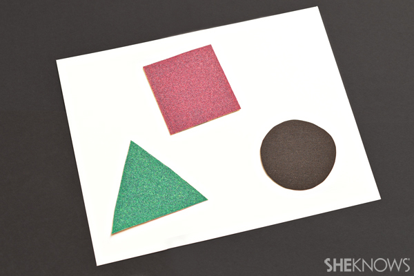Sand paper shapes - Sensory crafts