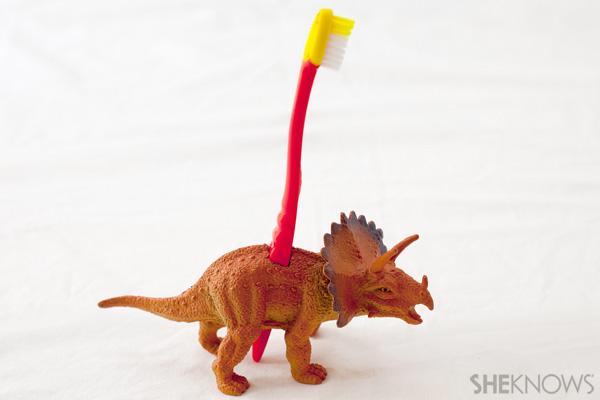 Dinosaur Toy Toothbrush Holder