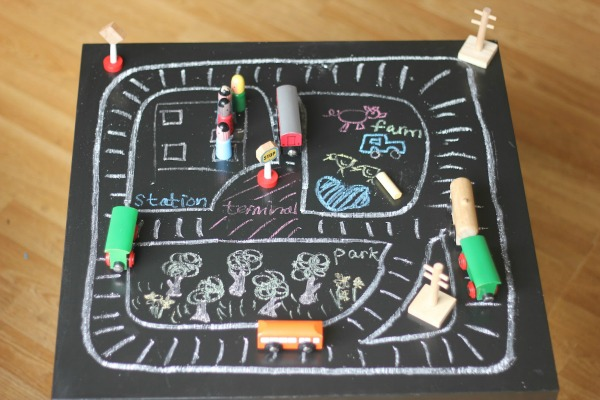 Make your own train tracks at home
