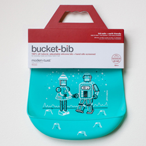 Modern-twist bucket bib
