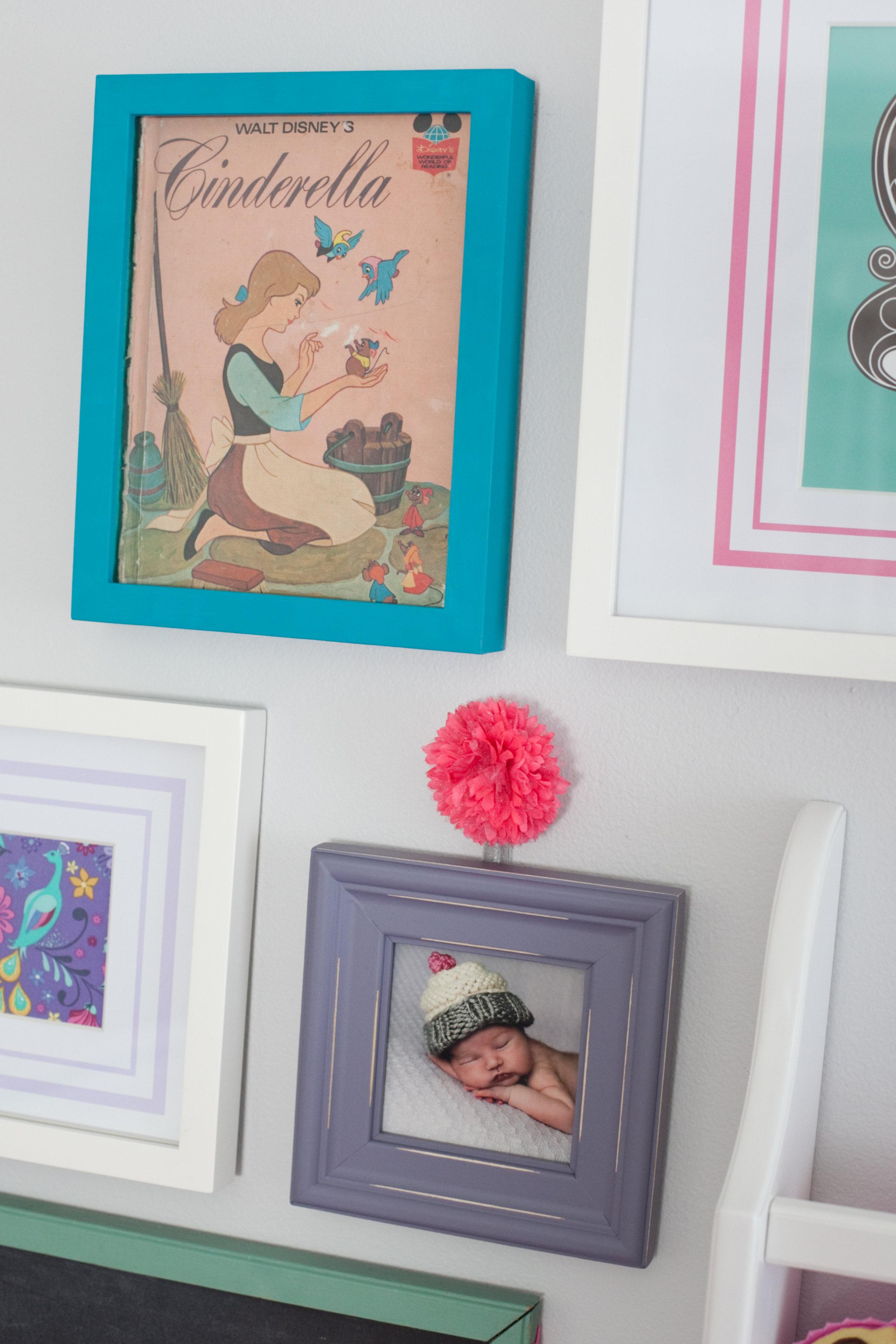 Nursery art idea: Framed children's book