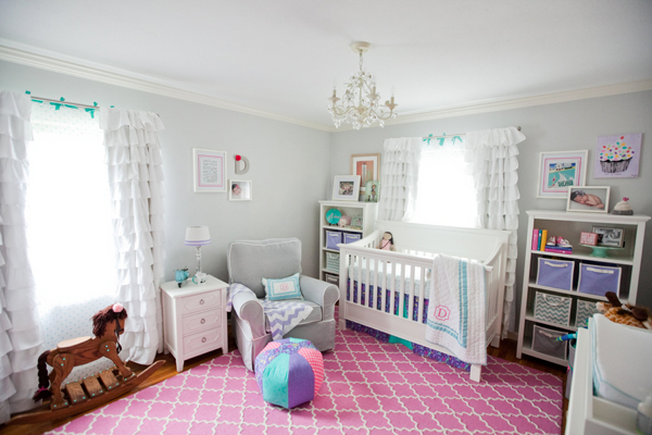 Decorating a girl's nursery