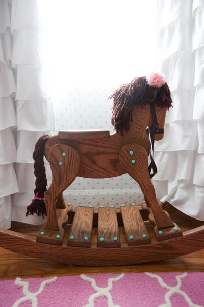 Rocking horse for girl's nursery