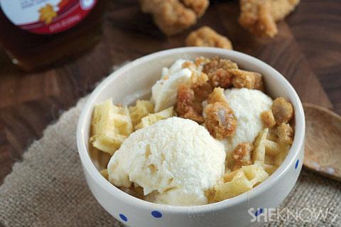 Chicken and waffle ice cream
