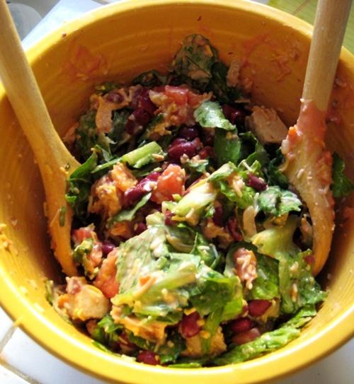 Mexican tortilla chicken salad