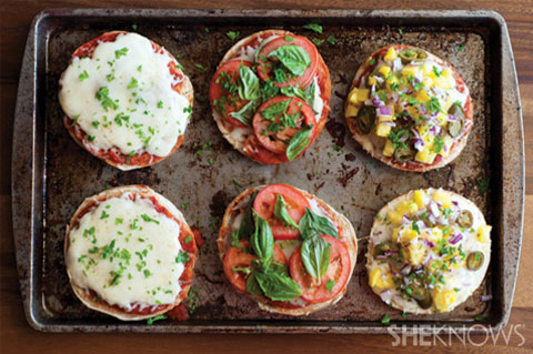 Easy pizza bagels 3 ways
