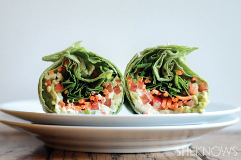 Veggie wraps for lunchboxes
