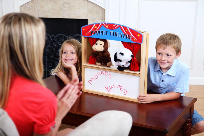 Develop a puppet show